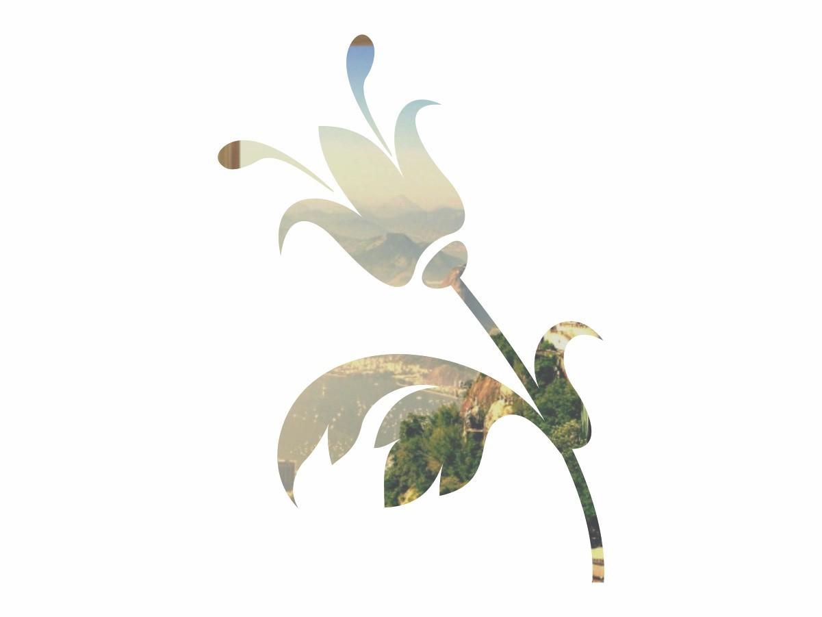 Adesivo Alto Relevo Flor - Espelhado Prata - 60x85cm
