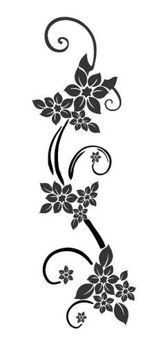 Adesivo De Parede Flor 40x120cm Em 3d - Novidade