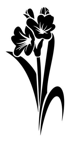 Adesivo De Parede Flor Em Alto Relevo 40x85cm - Preto