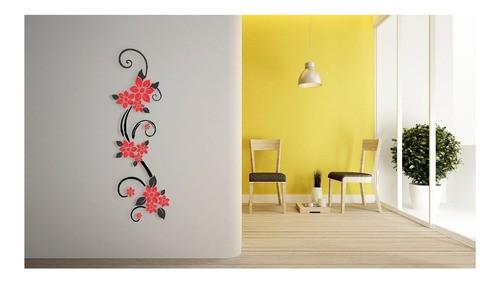 Adesivo Decorativo Flor 40x120cm APLICADO Em Mdf