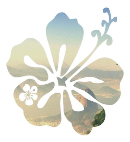 Adesivo Parede Em Alto Relevo Flor 70x75cm - Prata