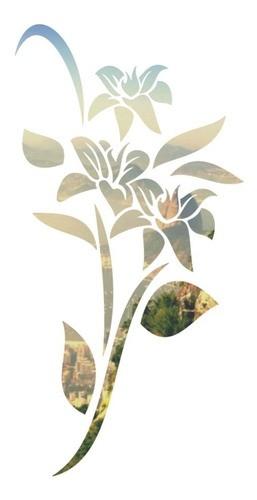 Adesivo Parede Em Alto Relevo - Flores Tulipa 75x150cm - Prata