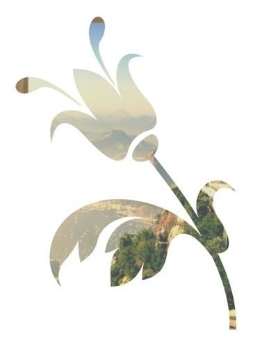 Adesivo Parede Em Alto Relevo Tulipa 90x130cm - Prata