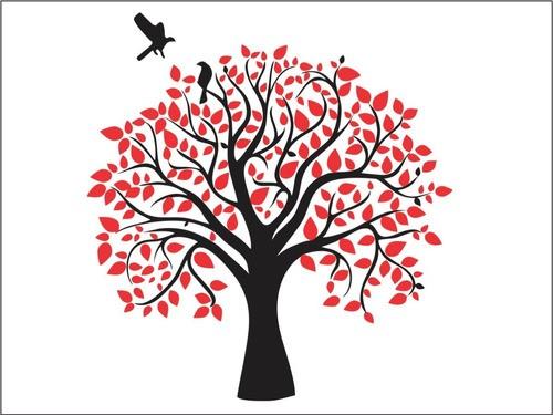 Árvore Decorativa em MDF -  Autocolante Em Parede - 60cm