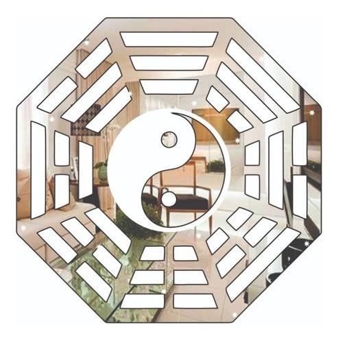 Espelho Acrílico | Decoração Espelhada - Ba Gua (35x35cm)