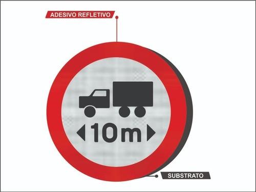 Comprimento Máximo Permitido Placa Refletiva R-18 Grau Técnico Comercial - 50x50cm