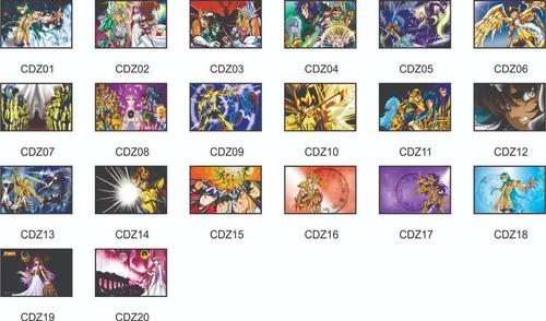Kit 3 quadros - Cavaleiros Do Zodiaco - Escolha o seu - 20x30cm