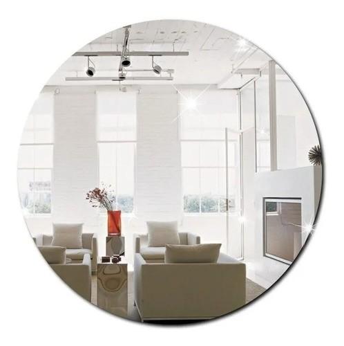 Espelho Acrílico Redondo | Decoração Espelhada (30x30cm)
