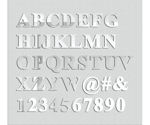 Espelho Decorativo Letras - 7 Letras - 20cm