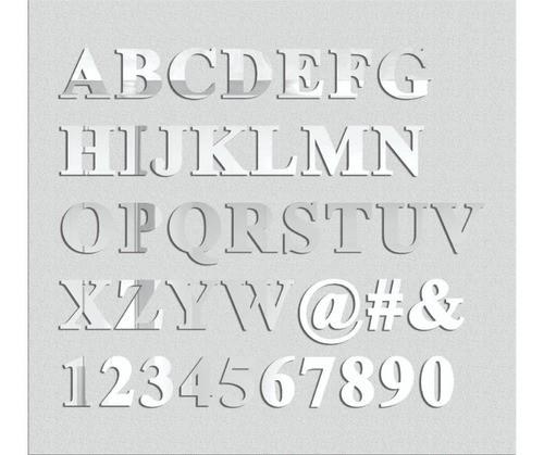 Espelho Decorativo Letras - 7 Letras - 30cm