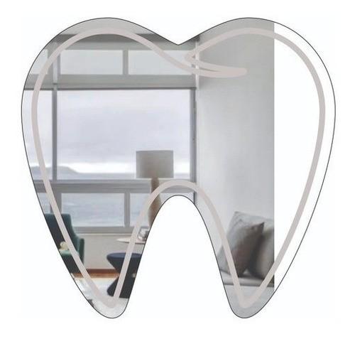 Espelho Acrílico | Decoração Espelhada - Profissões | Dentista | Dente (80x75cm)