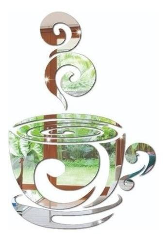 Espelho Decorativo Xícara De Café - 51cm