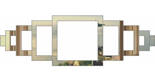 Espelho Acrílico | Decoração Espelhada - Geométrico Abstrato Vazado (25x25cm)