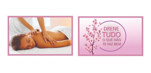 Kit 2 Quadros Decorativos Estetica Spa Drenagem