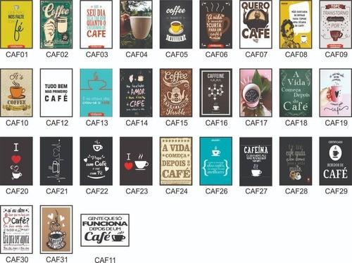 Kit Decorativo 3 Quadros De Café 30x20cm