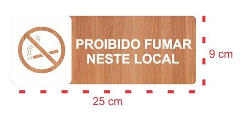 Kit Placas Sinalização P/ Restaurante, Bar, Comércio 7 Peças -25x9cm
