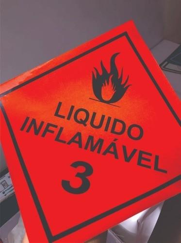 Líquido Inflamável Classe 3 / Adesivo Refletivo P/ Caminhão