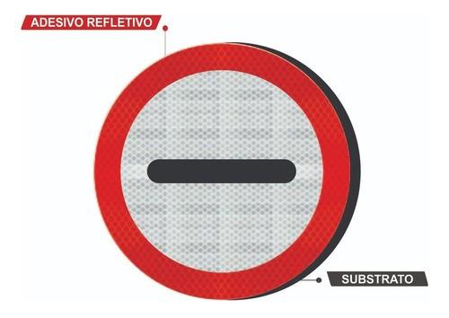 Placa Alfândega C/ Adesivo Refletivo R-21 Grau Técnico I - 50x50cm