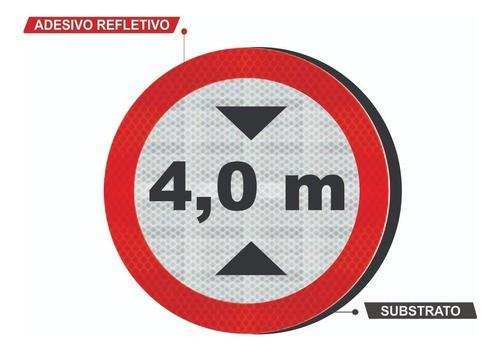 Placa Altura Máxima Permitida R-15 Grau Técnico I - 50x50cm