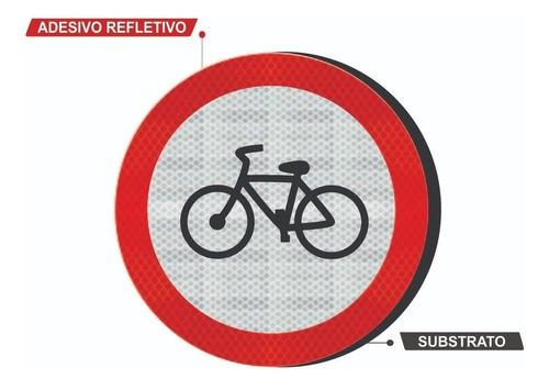 Placa Bicicletas R-34 Grau Técnico Comercial - 50x50cm