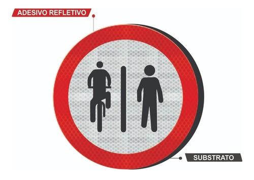 Placa Ciclista À Esquerda, Pedestre À Direita R-36a Grau Técnico I - 50x50cm
