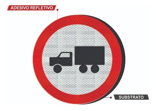 Placa Circulação Exclusiva De Caminhão R-39 Grau Técnico I - 50x50cm