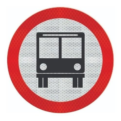 Placa Circulação Exclusiva De Ônibus R-32 Grau Técnico Comercial - 50x50cm