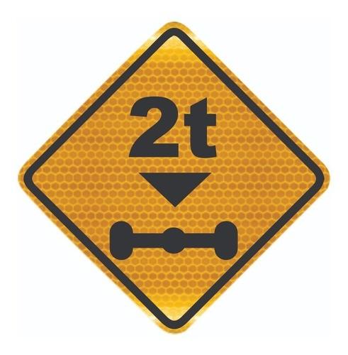 Placa De Peso Limitado Por Eixo Grau Técnico A-47 Grau Técnico I - 50x50cm
