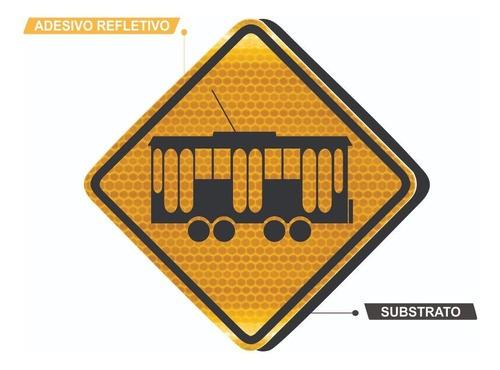 Placa De Rua Bonde Grau Técnico A-16 Grau Técnico Comercial - 50x50cm