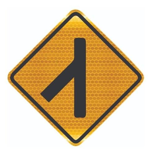 Placa De Rua Confluência À Esquerda Grau Técnico A-13a Grau Técnico Comercial - 50x50cm