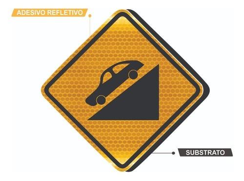Placa De Rua Declive Acentuado Grau Técnico A-20a Grau Técnico Comercial - 50x50cm