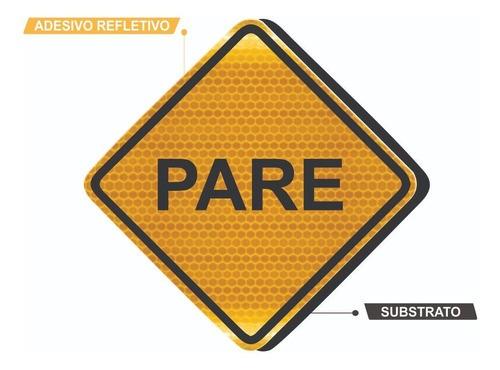 Placa De Rua Parada Obrigatória Grau Técnico A-15 Grau Técnico I - 50x50cm