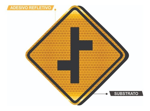 Placa De Rua Refletivo Grau Técnico A-11a Grau Técnico Comercial - 50x50cm