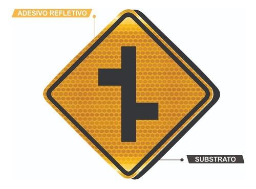 Placa De Rua Refletivo Grau Técnico A-11b Grau Técnico Comercial - 50x50cm