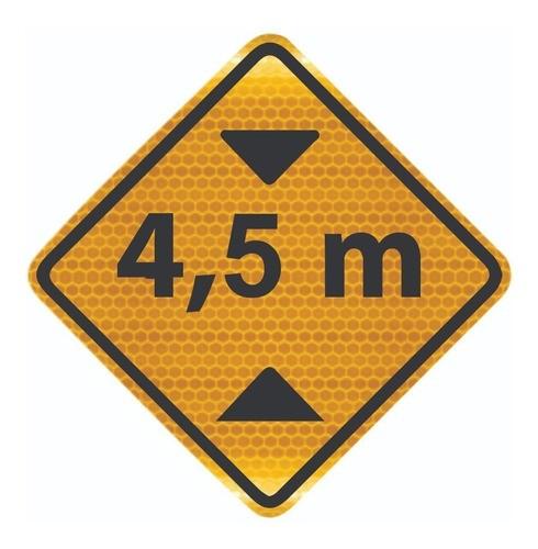 Placa De Trânsito Altura Limitada Grau Técnico A-37 Grau Técnico I - 50x50cm