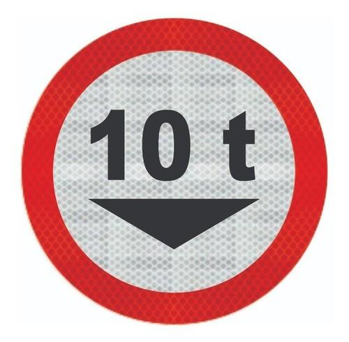 Placa De Trânsito R-14 Peso Total Grau Técnico Comercial - 50x50cm
