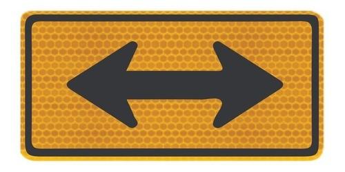 Placa De Trânsito Sentido Duplo Refletivo A-26b Grau Técnico I - 50x50cm