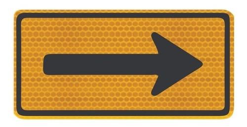 Placa De Trânsito Sentido Único Refletivo A-26a Grau Técnico I - 50x50cm