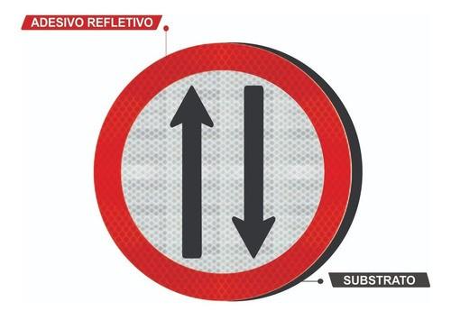 Placa Duplo Sentido De Circulação R-28 Grau Técnico Comercial - 50x50cm