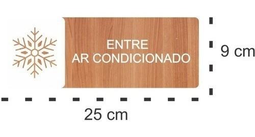 Placa Entre Ar Condicionado - Alto Relevo - 25x9cm