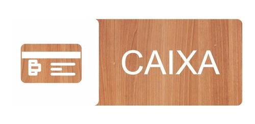 Placa Indicativa Caixa - Alto Relevo - 25x9cm