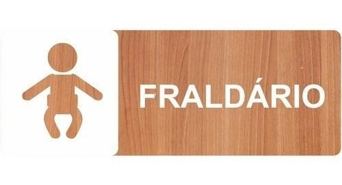 Placa Indicativa Fraldário - Alto Relevo - 25x9