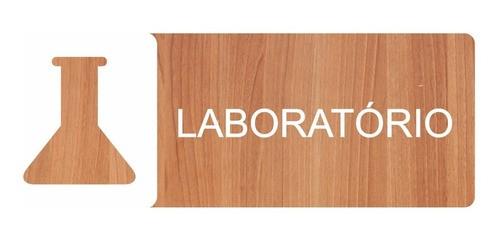 Placa Indicativa Laboratório - Alto Relevo - 25x9cm