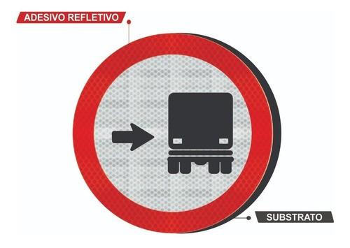 Placa Ônibus, Caminhões Mantenha À Direita Refletivo R-27 Grau Técnico I - 50x50cm