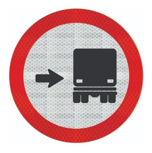Placa Ônibus Caminhões, Mantenham-se À Direita R-27 Grau Técnico Comercial - 50x50cm