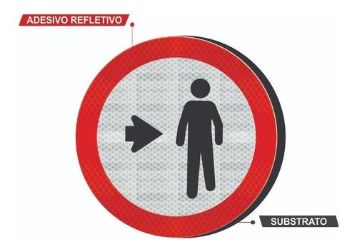 Placa Pedestre, Ande Pela Direita R-31 Grau Técnico Comercial - 50x50cm
