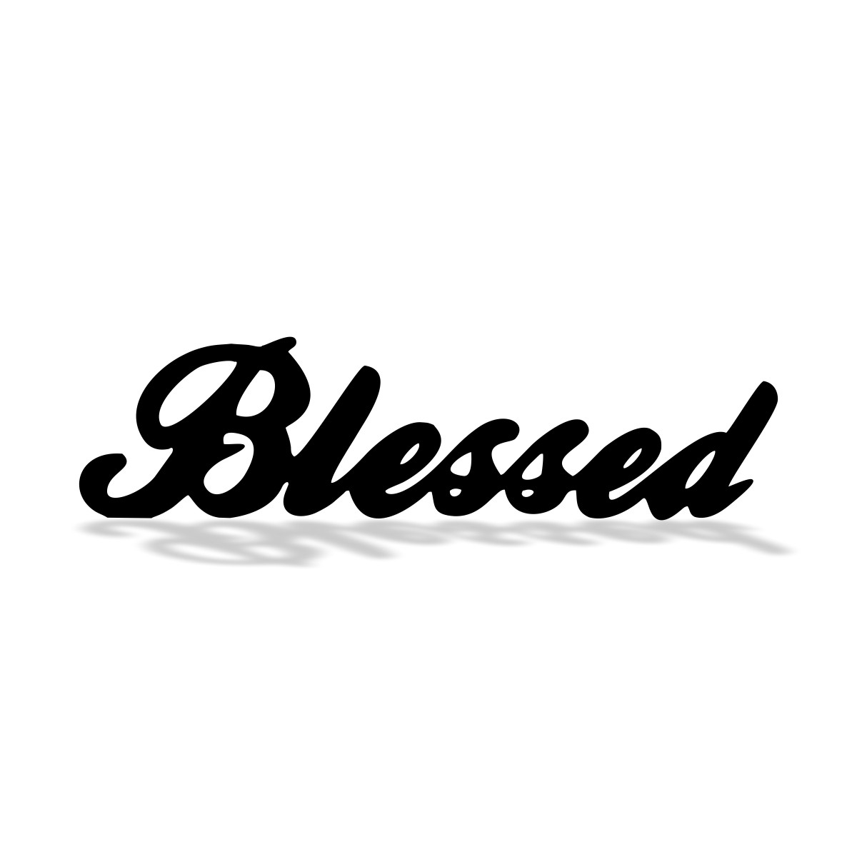 PLACA DE MESA DECORATIVA - BLESSED - 30x10cm