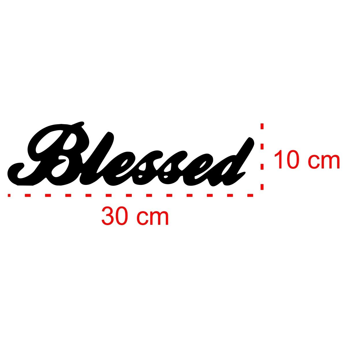 PLACA DE MESA DECORATIVA - BLESSED - 30x10cm