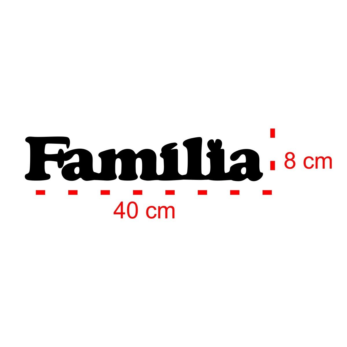 PLACA DE MESA DECORATIVA - FAMÍLIA - 30x10cm