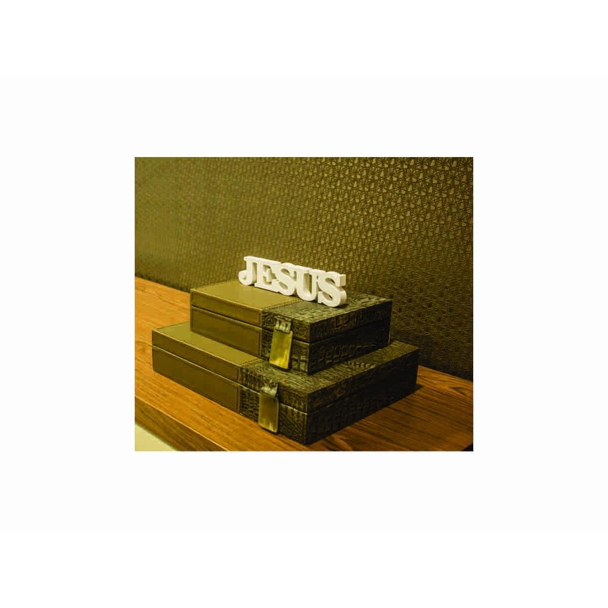 PLACA DE MESA DECORATIVA - JESUS - 40x10cm